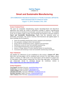 Smart and Sustainable Manufacturing