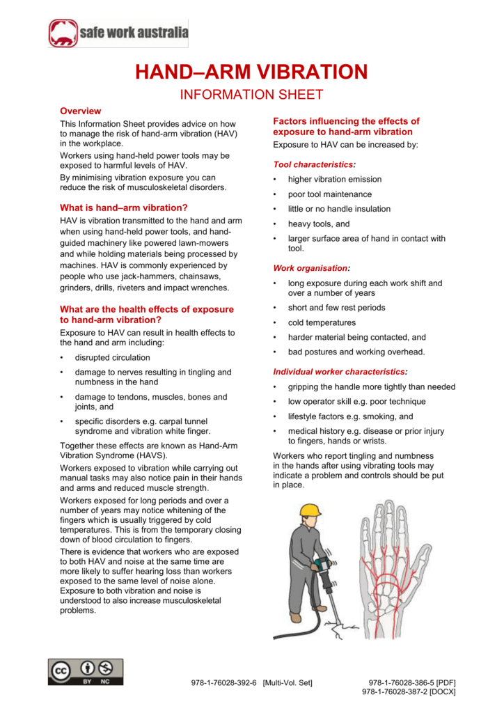 Hand Arm Vibration Information Sheet