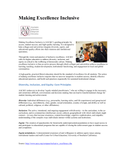 Making Excellence Inclusive is AAC&U`s guiding principle for access