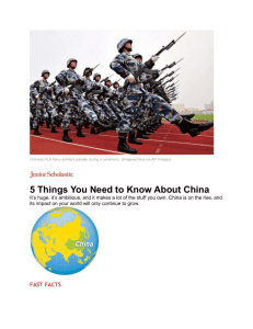 5 Things You Need to Know about China