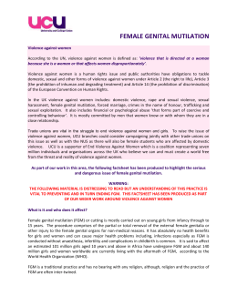Female Genital Mutilation – factsheet