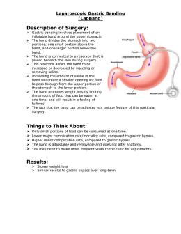 Laparoscopic Gastric Banding (LapBand) Description of Surgery