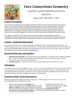 Core Connections Geometry - Ankeny Community School District