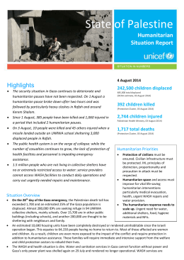 Read the Humanitarian needs & UNICEF response in Gaza