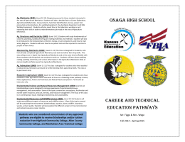 Career and Technical Education Pathways