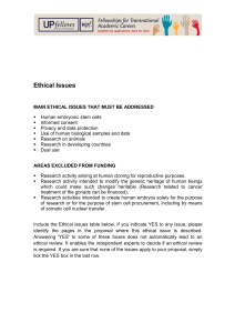 Ethical Issues document