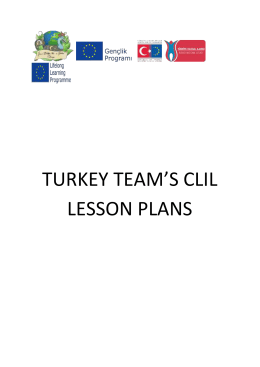 turkey team`s clil lesson plans