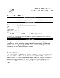 Neuroscience Students` Association Research Form