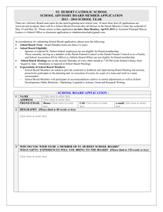 school advisory board member application