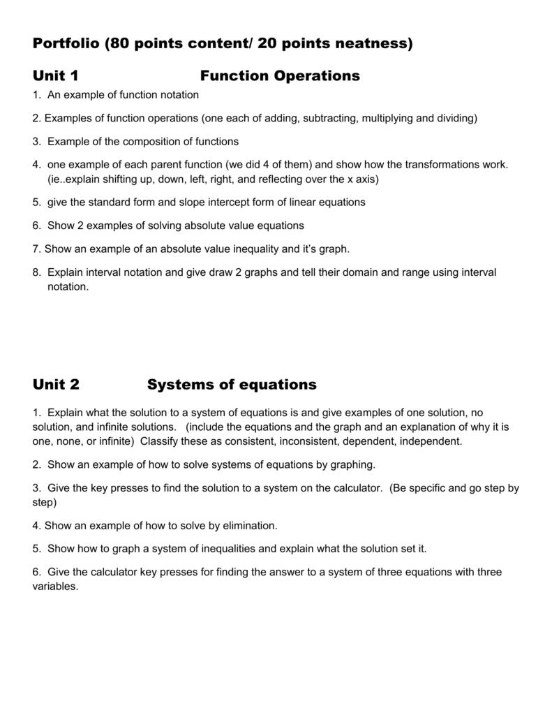 Unit 7 Rational Functions