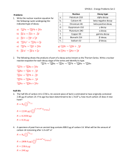 Atomic Physics Problems Set Solutions
