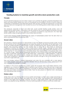 Feeding Systems to maximise growth and drive down production costs