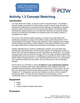 Activity 1.3 Concept Sketching Introduction