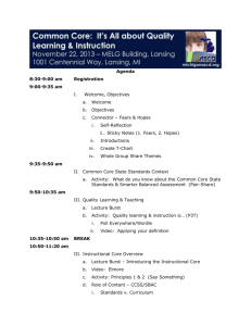 Agenda - Michigan ASCD