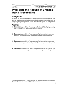 Predicting the Results of Crosses Using Probabilities