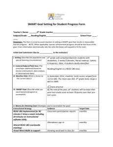 SMART Goal Setting for Student Progress Form