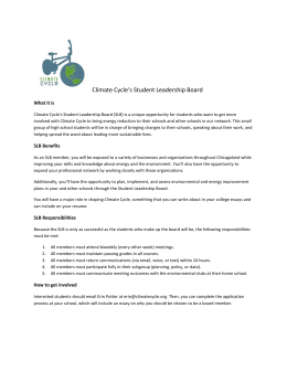Climate Cycle*s Student Leadership Board