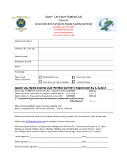 Signup Form - Queen City Figure Skating Club