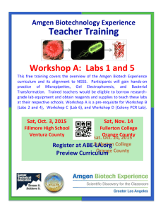 Labs 1 and 5 - OC Biotech Education