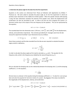 Laser Vibrometry Questions (1)