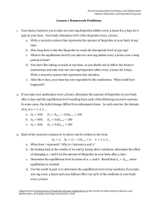Homework Problems Sheet - Distance Education @ NCSSM