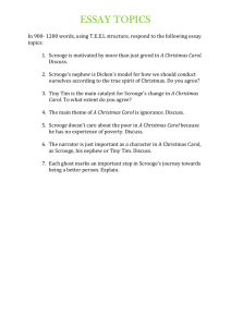 A Christmas Carol Essay Topics - English-Units 3 & 4-BCH