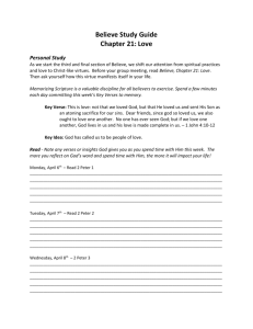 Believe Study Guide - New Chapter 21