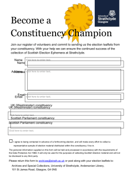 Become a Constituency Champion