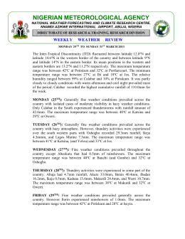 WxRev-WK13 MAR 2013 - Nigerian Meteorological Agency