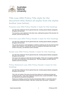 use ANU Policy Header 2 style for this heading