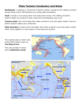Plate Tectonic Vocabulary and notes0