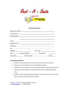 Rent *a- Santa in support of