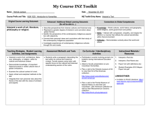 My Course INZ Toolkit