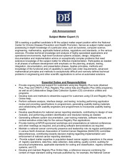 Job Announcement - DB Consulting Group