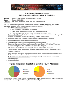 Trip Report Template for the AVS International Symposium