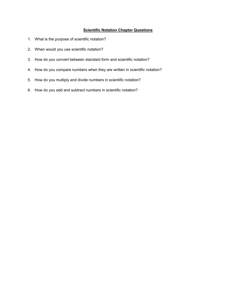 Scientific notation chapter questions what is the purpose of falaconquin