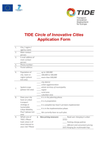 Application form Circle of Innovative Cities