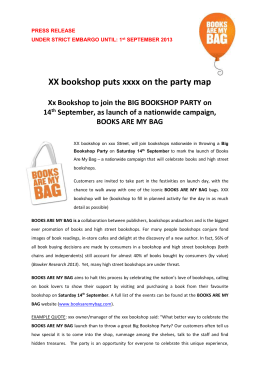 Available 15092009 xx bookshop puts xxxx on the party map xx bookshop to join the fandeluxe Choice Image