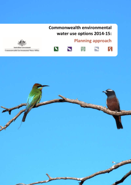 Commonwealth environmental water use options 2014