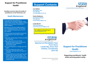 21 Draft Health concerns leaflet for practitioners final