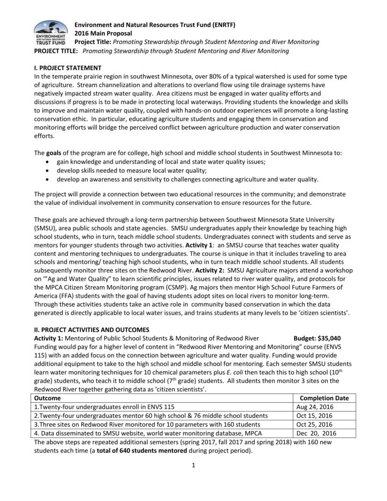 Main Proposal - Minnesota Senate