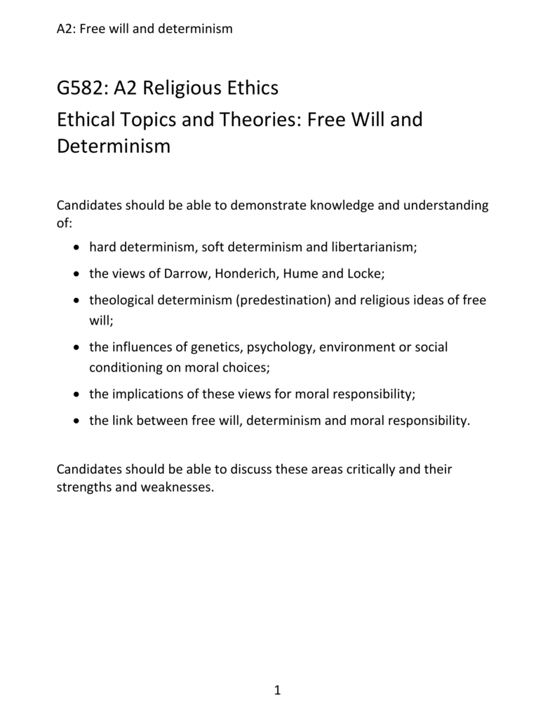essay on soft determinism Soft determinism stace's theory of compatibilism has to deal with free will and its consistency with determinism soft determinism is the thought that coherent humans should be held responsible for their actions if those actions were voluntary.