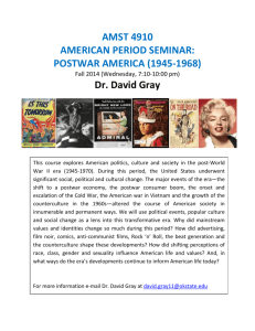American Period Seminar: Post-War 1945-1970