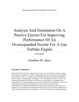 Analysis And Simulation On A Passive Ejector For Improving