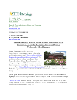 press release - Siena College