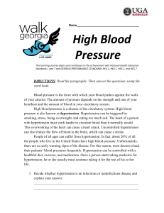 """High Blood Pressure"" Exercise"
