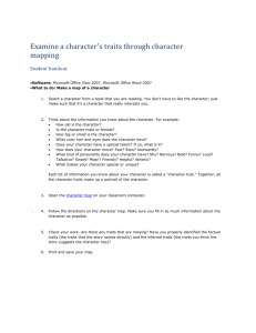 Character traits student handout