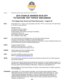 The 2015 Charlie Awards Kick-Off + Hot Topics Happy Hour
