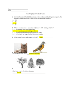 Name: Date: Classifying Organisms- Study Guide Scientists have