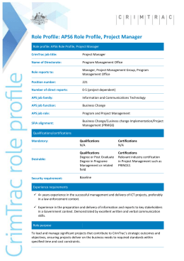 Role Profile - 2015 Template (with instructions)